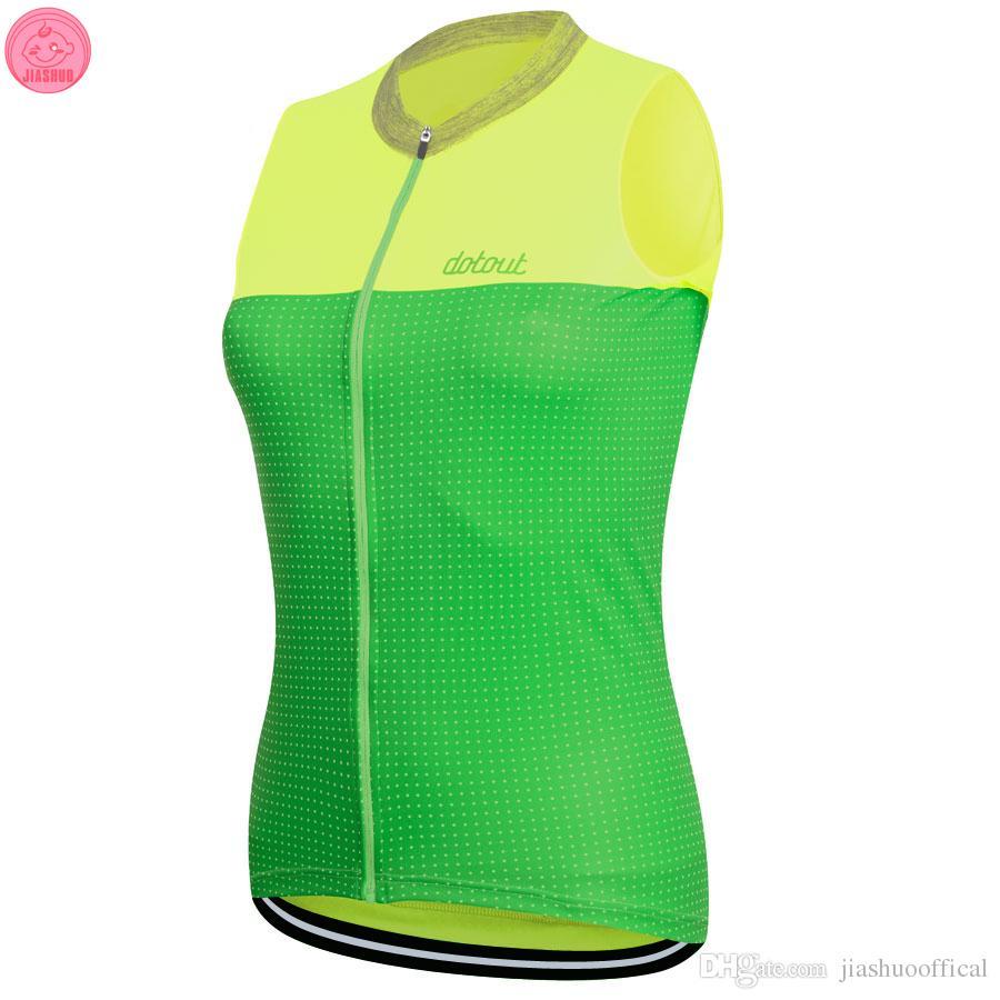 Çok renkler Kadınlar Özelleştirilmiş YENI 2017 NOKTA Bisiklet mtb yol YARI Takım Pro Cycling Yelekler Jersey / Gömlek Tops Giyim Solunum Hava JIASHUO