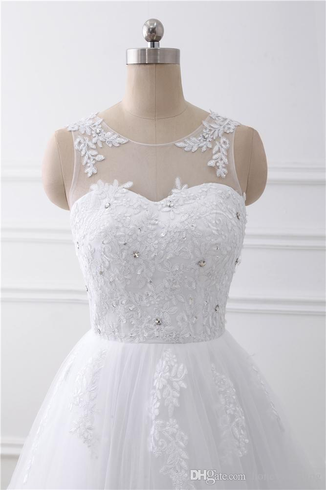 2017 Wedding Dresses Cheap A Line Garden Bridal Gowns Real Photo Elegant In Stock Vestidos De Noiva With Lace Up Back
