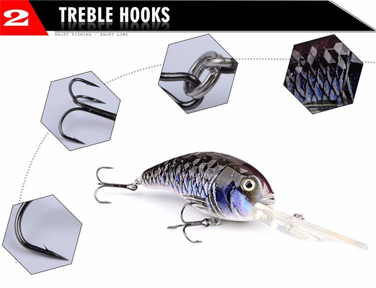 2017 ABS Plastic Long tongue bass Trout Fishing lure 32g 13cm Minnow Wobblers Bait with 4# Treble Hooks Fishing Tackle