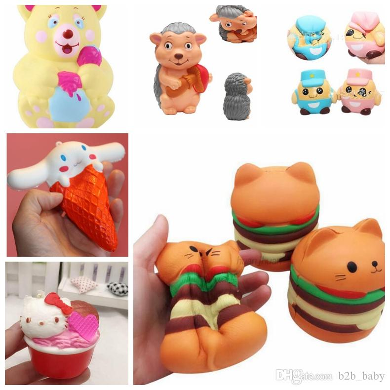 1pc Mini Animal Anti Stress Ball For Bag Accessories Fun Antistress Extruding Big Raised Eyes Doll Squeezing Pandent Luggage & Bags
