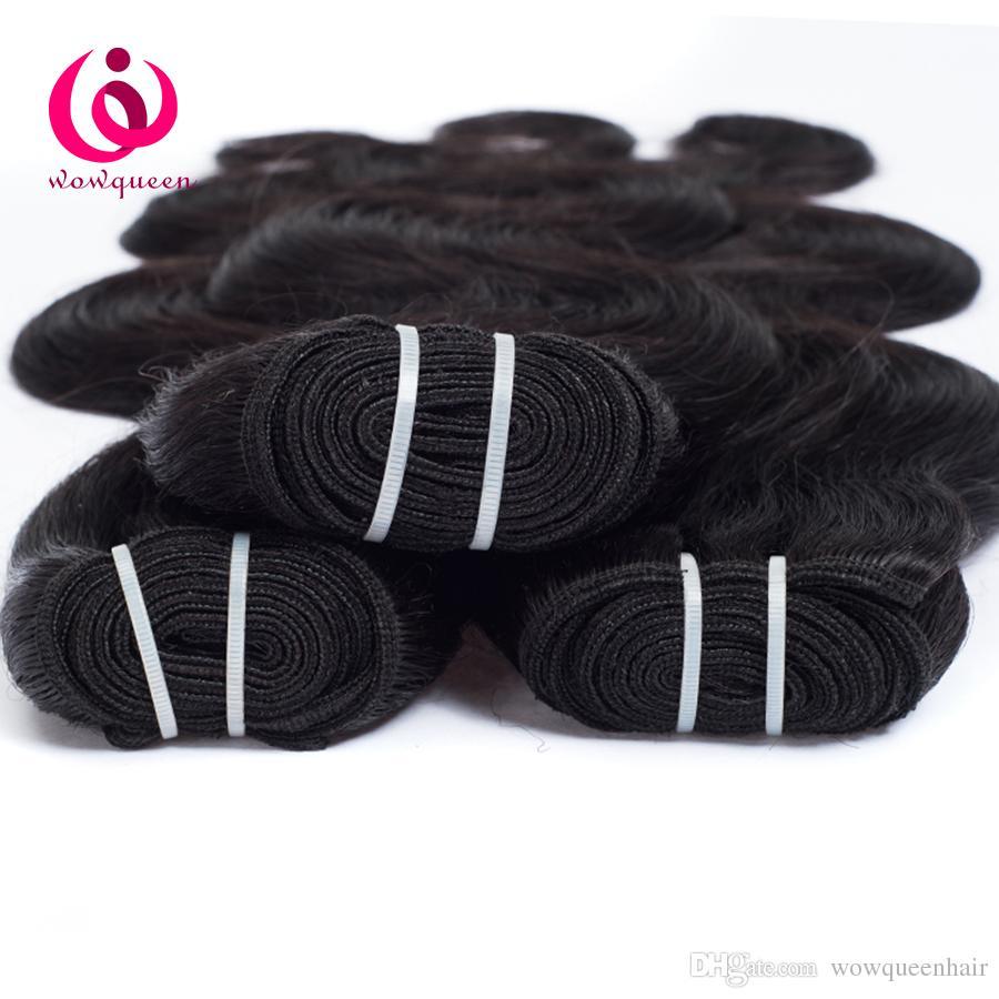 Brazilian Human Weave Hair Body Wave 4Bundles Wow Queen Hair Soft and Thick 8-28inch Cheap Price Brazilian Virgin Human Hair Extensions