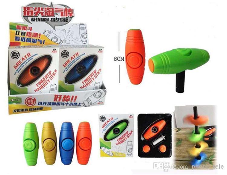Fidget Rollover Fidget Spinner Multifunción Fingertip Stick Roller Plastic Desktop Hand Spinners Cara Flip Roll Palos Juguetes de descompresión