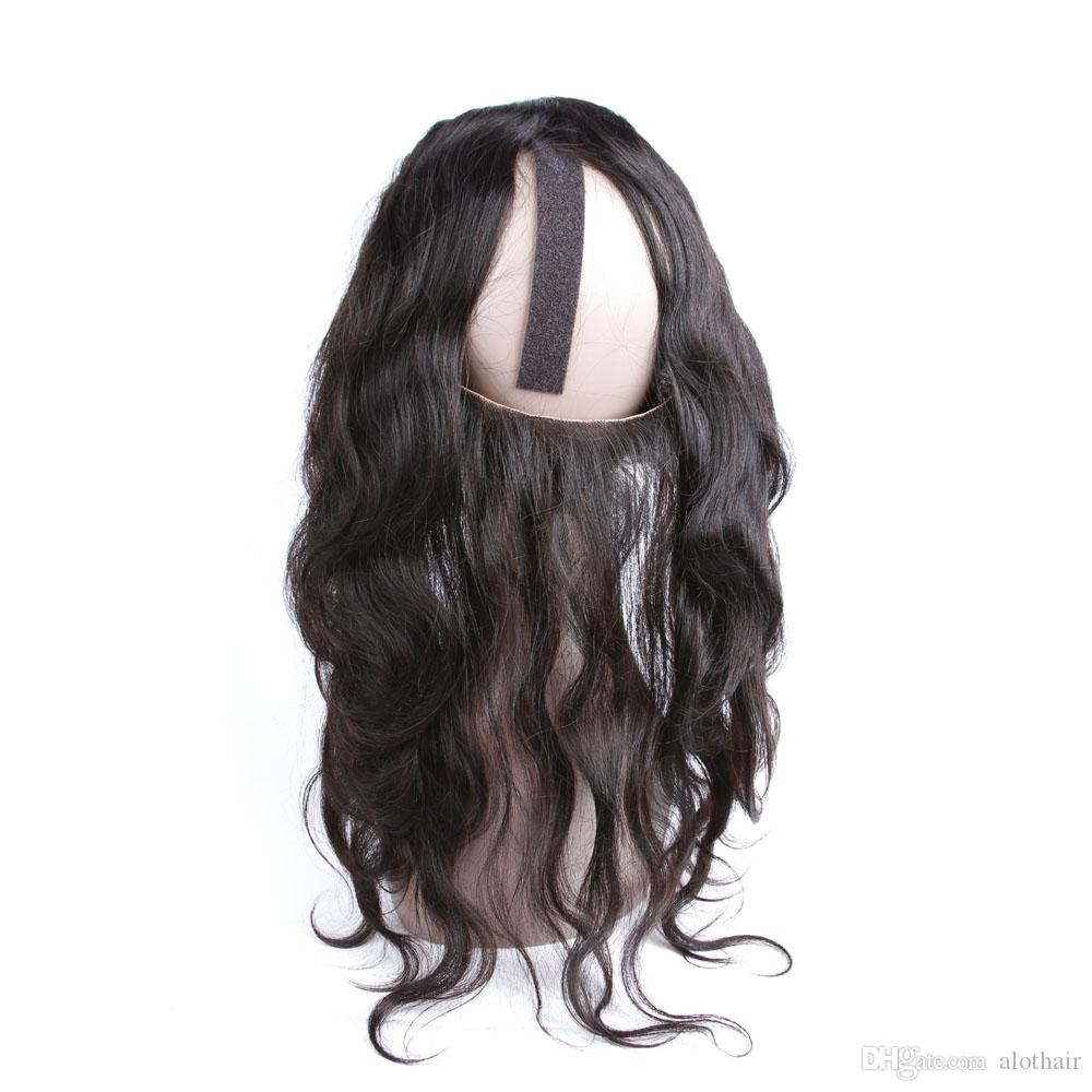 Pre Plucked 360 Frontal with Bundles Body Wave Hair Weaves Human Hair 2 Bundles Natural Color 360 Lace Frontal with Bundles