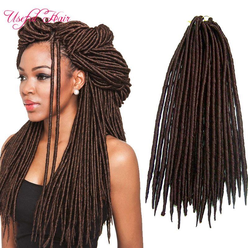 faux locs crochet hair 14,18inch faux locs braids 24strands/pcs syntheitc hair extension straight braids dreadlocks dropshipping hair
