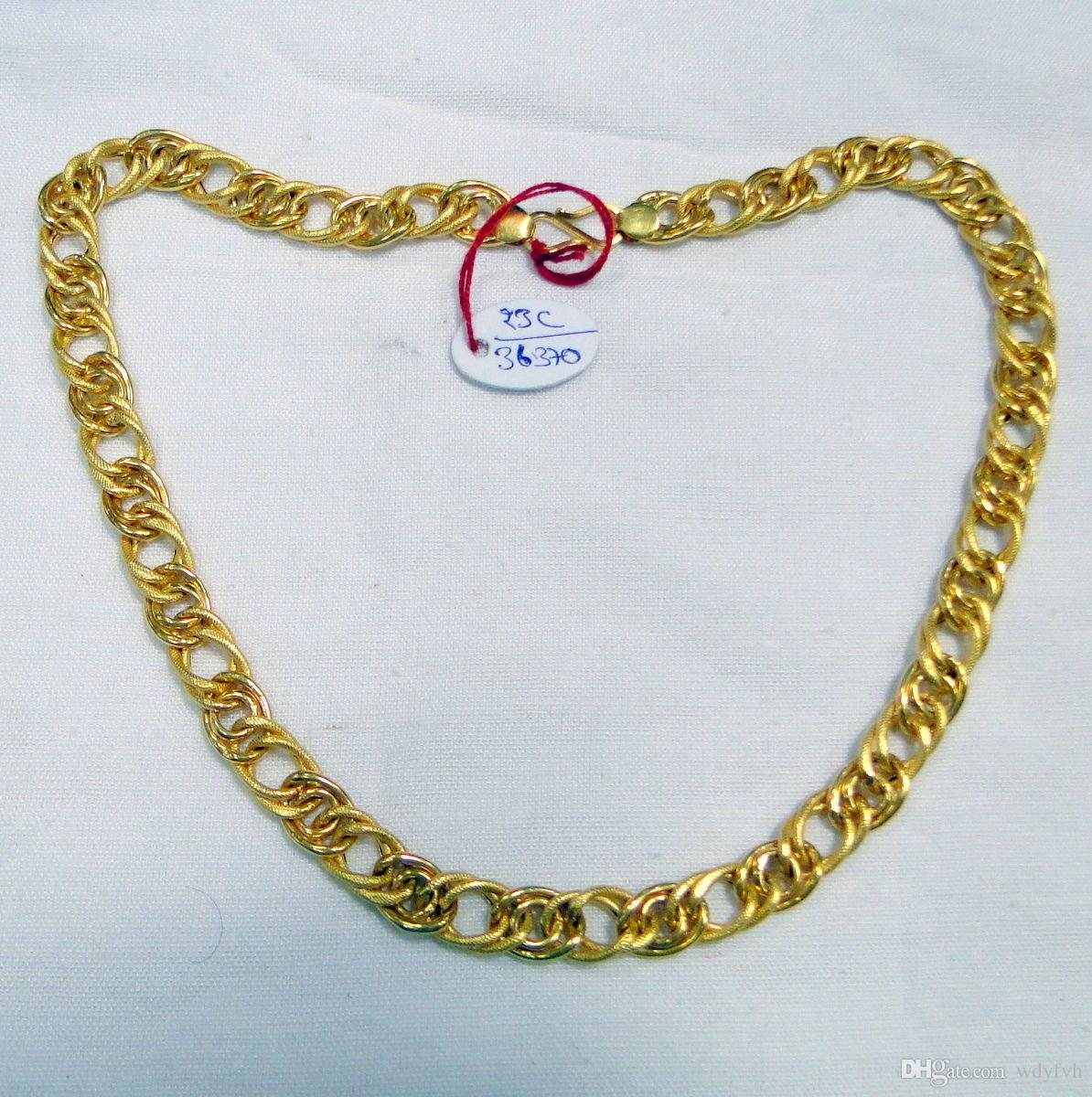 Wholesale Gold Chain 22k Gold Chain Necklace Link Chain Jewelry ...
