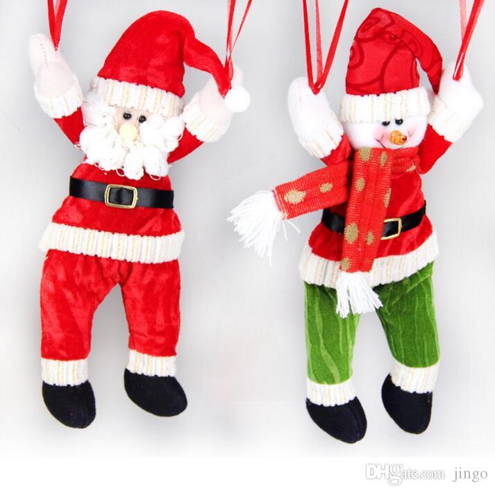 Weihnachtsdekoration Anhänger Outdoor Weihnachtsmann Schneemann Ornamente Fallschirm Weihnachtspuppe Party Ornament für Kinder Geschenk