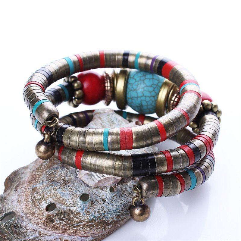 Set di 3 pezzi Set di gioielli in turchese di piombo e nickel free, collana donna, orecchini bangles HD-180
