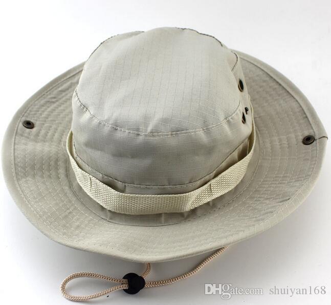 Men Women Military Camouflage Bucket Hats Jungle Camo Fisherman Hat with Wide Brim Sun Fishing Bucket Hat Camping Hunting Cap DHL Free