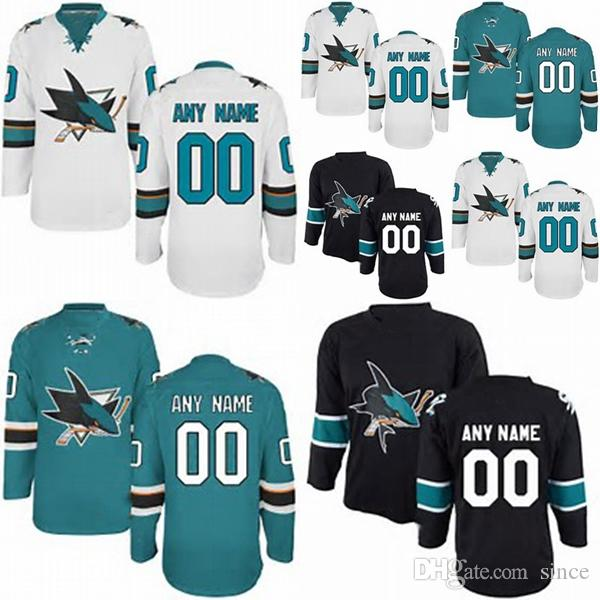 Best Factory Outlet Cheap San Jose Sharks Custom Blue White Black Sewing On  Best Quality Customized Your Own Name Number Ice Hockey Jerseys Under  $36.19 ...