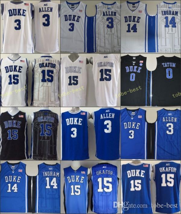 35abaca8125 ... 2018 duke blue devils 5 tyus jones basketball jerseys college men 12  justise winslow 2 quinn