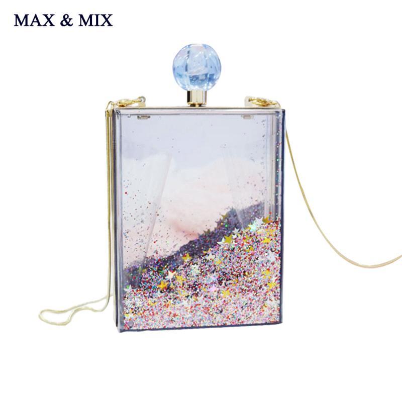 Wholesale- Super Recommendation ! Women Transparent Clear Box Clutch  Acrylic Evening Handbags Cross Body Transparent Perspex Purse Evening  Handbag Cross ... 8a28a16469