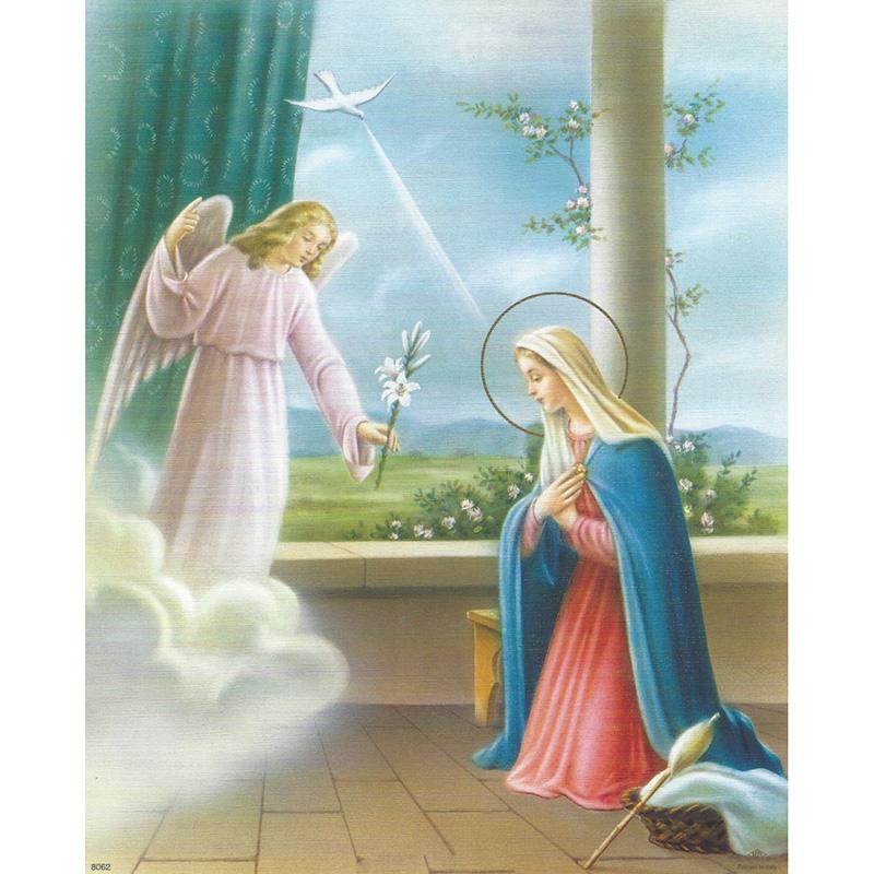 Virgen Maria Arcangel Gabriel Bricolaje Pintura Diamante Bordado 5d Punto De Cruz De Cristal Cuadrado Casa Dormitorio Arte De La Pared Decoracion