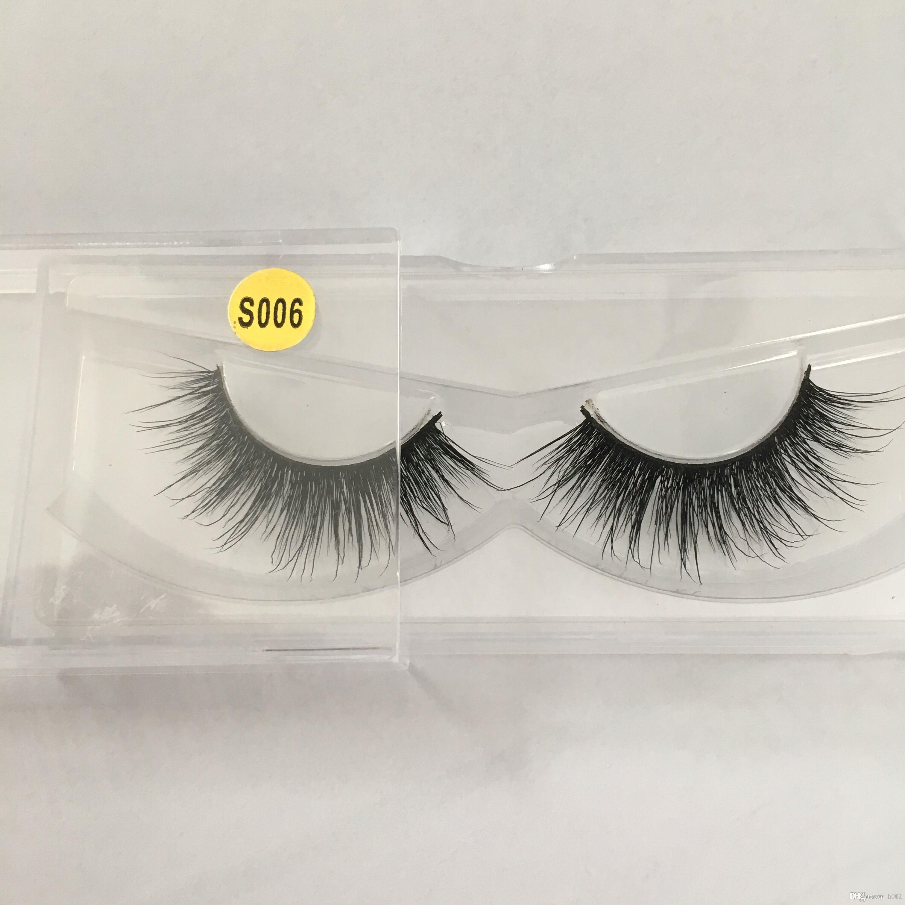 6aa768f5117 Charming False Eyelashes Messy Cross Thick Natural 3D Fake Eye ...