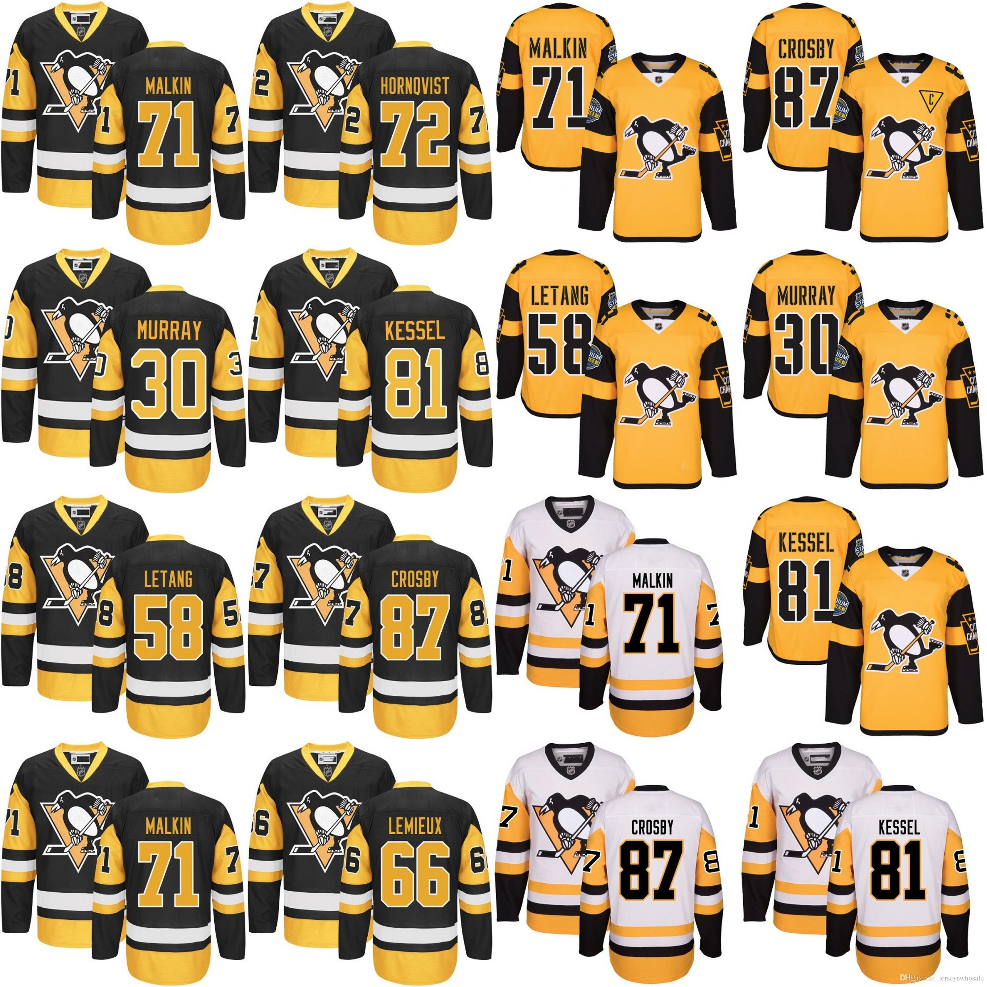 2017 Stanley Cup Champions Patch Pittsburgh Penguins Hockey Jersey ... 620b1f753