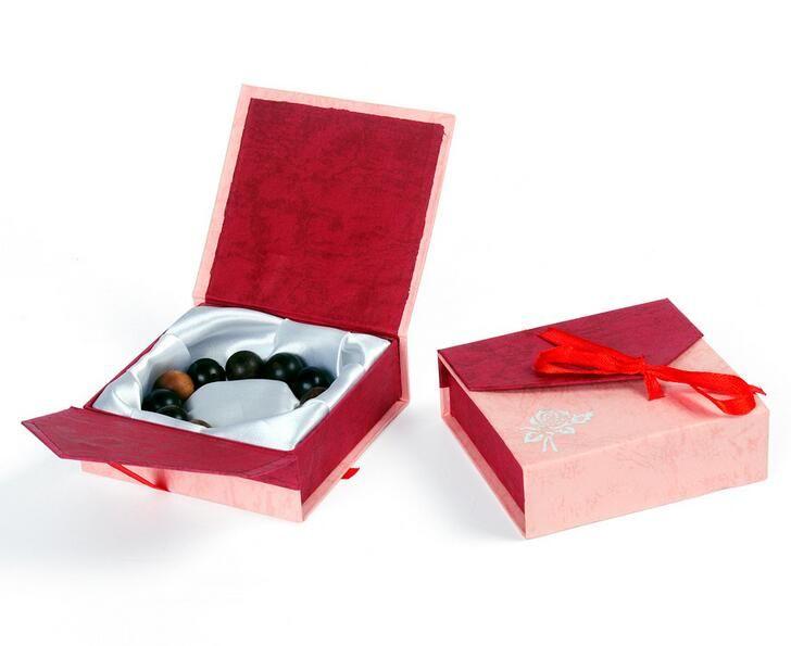 Colore casuale commercio all'ingrosso di carta 9 * 9cm del contenitore di monili della scatola del braccialetto della scatola di imballaggio del braccialetto della scatola di gioielli Trasporto libero G195