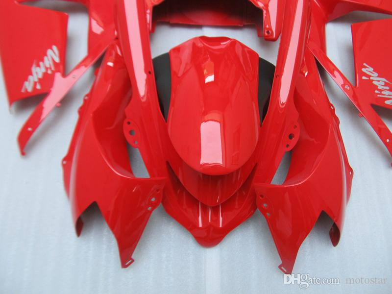 New hot moto parts fairing kit for Kawasaki ninja ZX10R 2004 2005 red black fairings set ZX10R 04 05 IT38