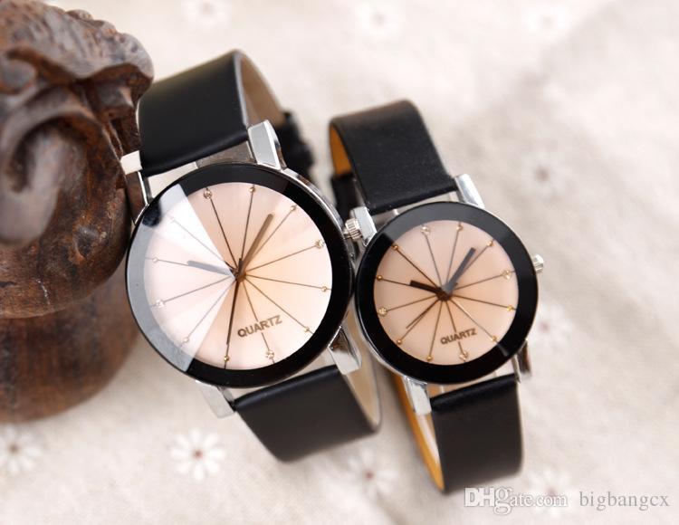 Donne da uomo orologi di cristallo orologi di lusso DOT Diamond Orologi Casual Classic Spots Diamond Leather Mens Orologi Amante Amante Fashion Designer Coppia orologio.