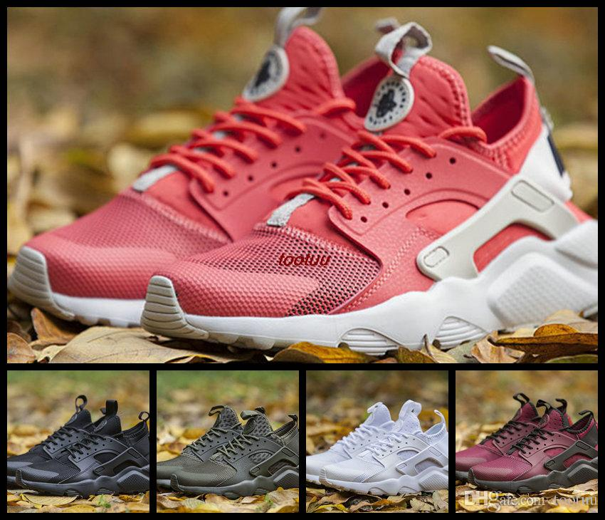 25f730fe871d discount air huarache 4 iv ultra orange running shoes for women men army  green pink white