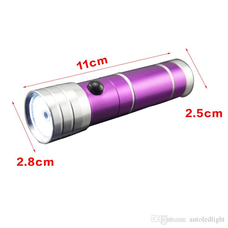 9 LED Flashlight Torch Light 8 leds 1 laser Outdoors Mini LED Flashlight 300LM LED Camping Flashlight Torch Waterproof torch