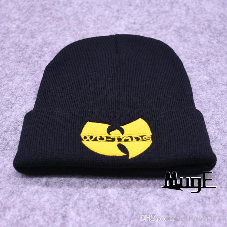 2017 Unisex Mask New Fashion Winter WUTANG CLAN Beanie Hats For Women Men Acrylic Black Knitted Caps Ski Crochet Gorros Toca