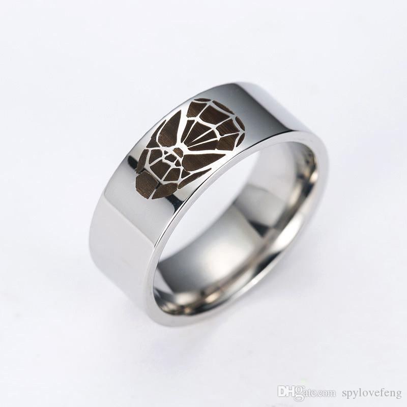 ishop titanium ring wedding superman superhero pinterest jewelry pin express rings
