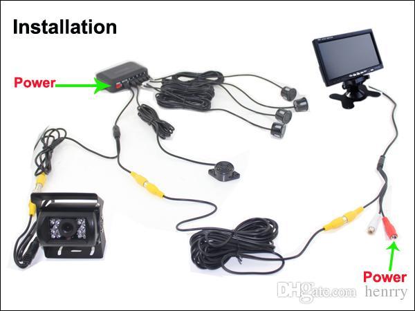 Truck Rearview Camera Car Intelligent Parking Assistance System PZ608 7 Inch 16:9 Digital Panel Waterproof IP67 Camera Pixal 648*488