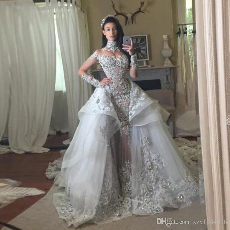 Compre Vestidos Con Crystal Novia Desmontable De Fantacy Luxury S6T6Hr