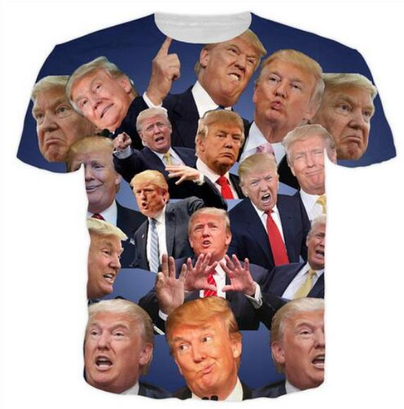 33a7087e41c4 New Fashion Womens Mens Donald Trump Short Sleeves Funny 3D Print T ...