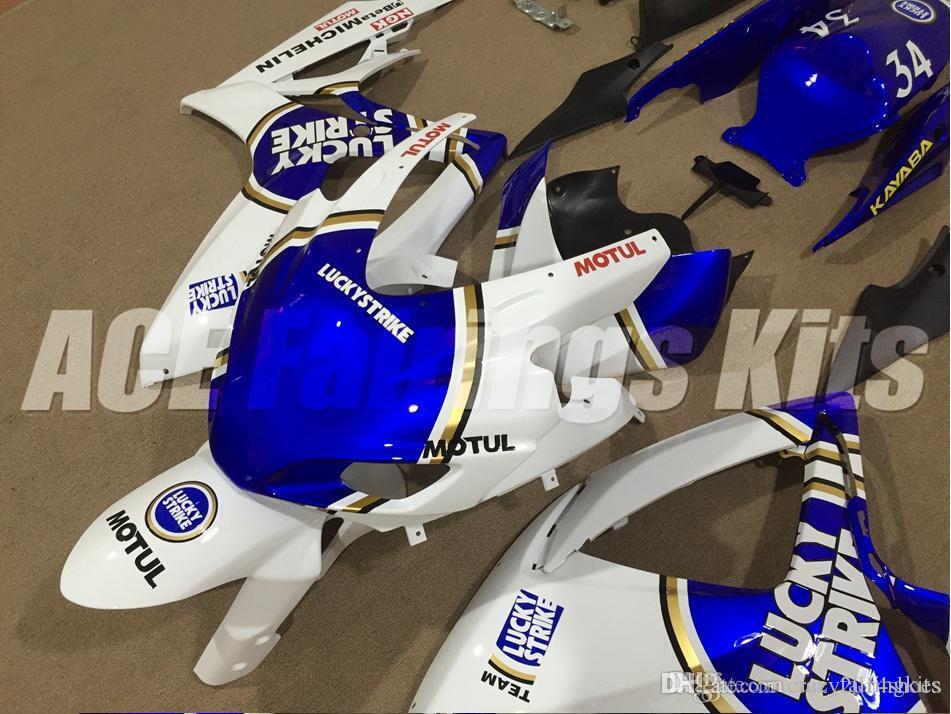 Kostenlose Geschenke + Sitzverkleidung Neue Racing-Verkleidungs-Kits für SUZUKI GSXR 600 750 K6 06 07 GSXR-600 GSXR750 GSXR600 GSXR-750 2006 2007 Glücksblauweiß