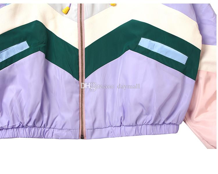 Japanese children play soft beauty cartoon embroidery stitch hit color Chong Fengyi sun color color cotton baseball jacket female jacket-C15