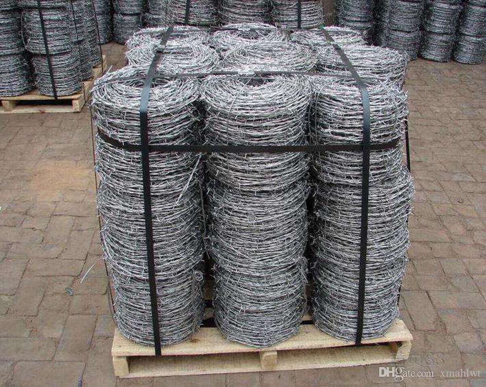 2018 Wholesale Long Span Life Steel Wire Reverse Twist Barbed Wire ...