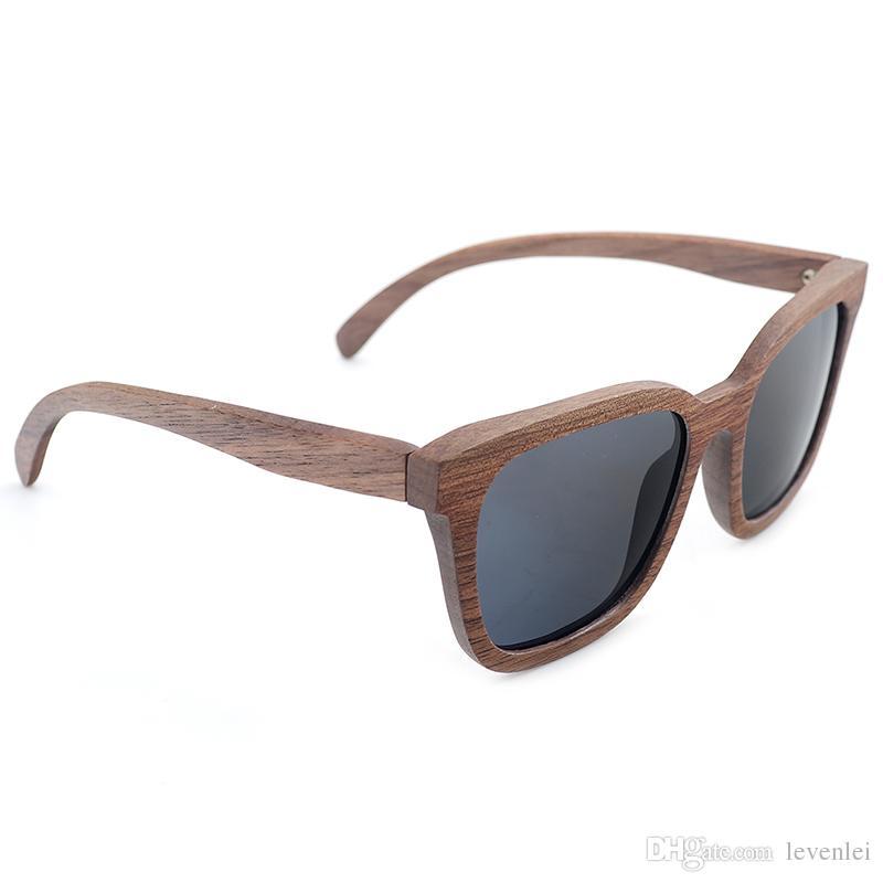 BOBO BIRD Unisex Handmade Nature Wooden Polarized Sunglasses Mirror Coating UV 400 Protection Wooden sunglasses As Gift For Women Men OEM