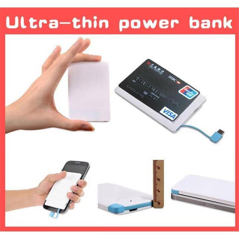 Wholesale 2600mah Ultra Thin Credit Card Power Bank 2600 Mah Usb