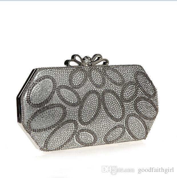 3 stücke 2017 neue ankunft großhandel einzigartige Diamante Diamant Kristall abendtasche Clutch Geldbörse Party Prom Hochzeit schulter handtasche brieftasche