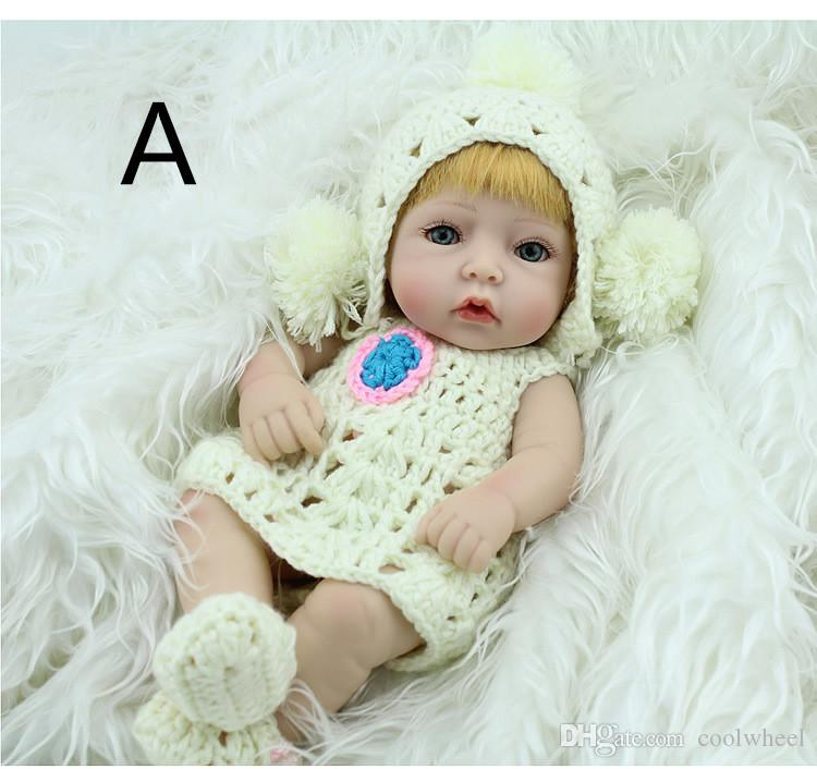 Hottest Sale Christmas Gift Kids Playmate Preschool Education Baby Reborn Toys Children Dolls 28 cm Simulation Reborn Dolls Gifts Silicone