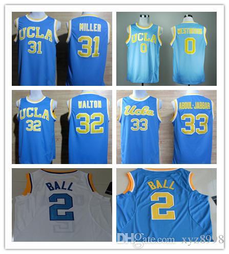 828f88d3c 42 Kevin Love Shirt 33 Kareem Abdul Jabbar 0 Russell Westbrook 2 Lonzo Ball  31 Reggie Miller 32 Bill Walton UCLA Bruins Jersey Basketball Jerseys  Online ...