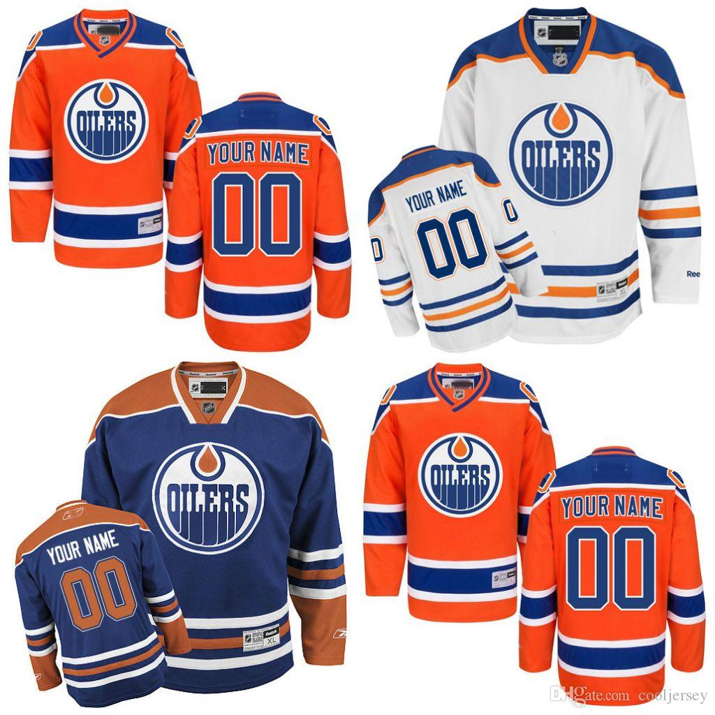1de08018b4c 2019 Edmonton Custom Edmonton Oilers Jerseys Any Name Any Number Cheap Ice  Hockey Jerseys Customized Home Hockey Jersey Stitched Top Quality From  Cooljersey ...