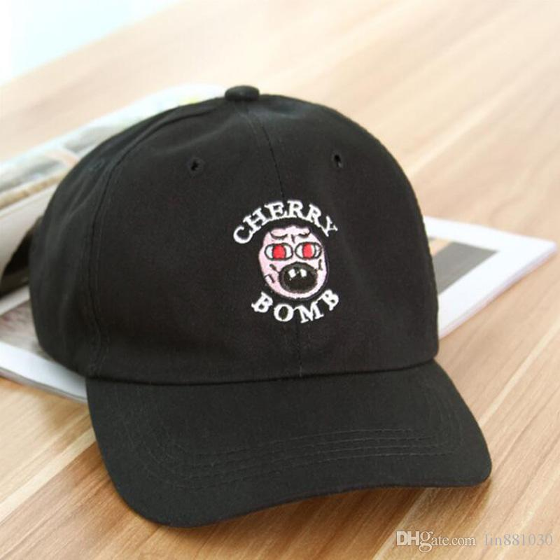 c0af366e12e4 Cheap New Golf Wang Cherry Bomb Snapback Hats Brand Men Adjustable Hip Hop  Baseball Caps Women 6 Panel Hats Casquette Sun Visor Cap Dad Hat Cap Rack  Caps ...