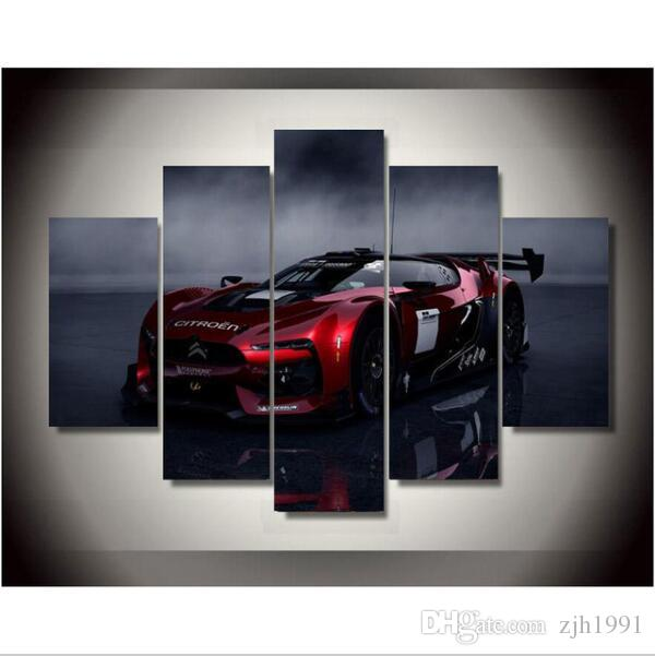 canvas art New Canvas Printings Citroen Racing Car Painting Wall Decoration for home Poster Canvas