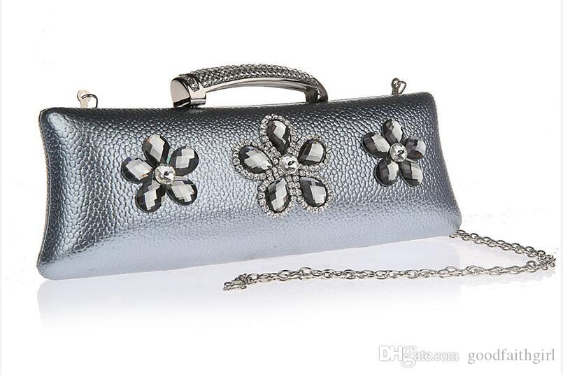 Dropshipping PU Diamante Diamond Crystal Evening Bag Clutch Purse ... 3f05bc6fdf5c
