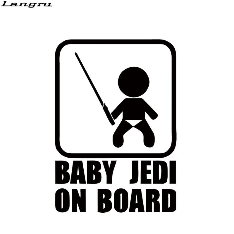 Grosshandel Cooles Grafik Baby Jedi An Bord Auto Styling Aufkleber