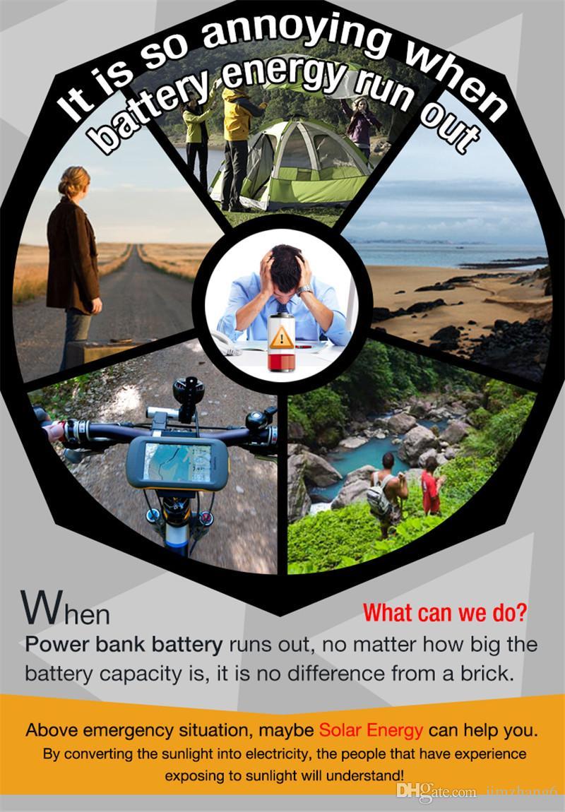 켄터키 - 15W, 전원 은행, 태양 전지 패널 휴대용 충전기, 외부 배터리 유니버설