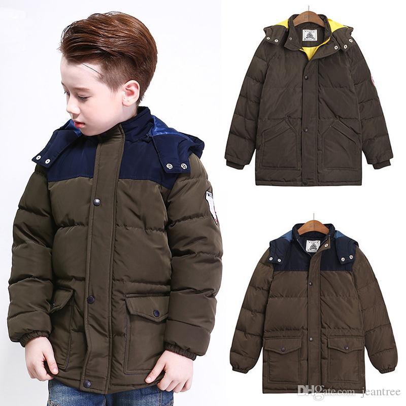 8 16 Year Boy Down Parkas Kids Boy Winter Coats Clothings Hooded ...