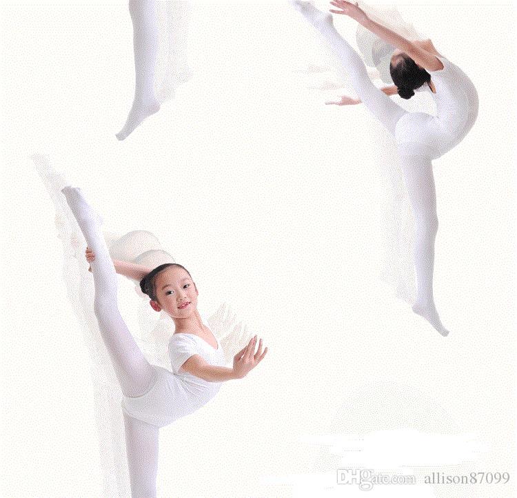 Chaussettes de danse enfants Ballet Collants Leggings collants nylon 80D 2018 Eté blanc noir abricot Vente en gros pas cher
