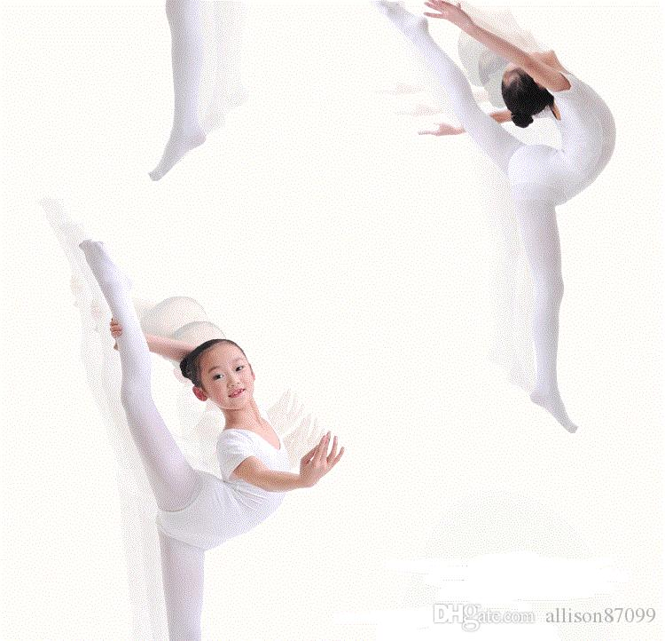 Kinder Ballett Strumpfhosen Tanz Socken Leggings Strumpfhosen 80D Nylon 2018 Sommer Weiß Schwarz Aprikose Großhandel billig