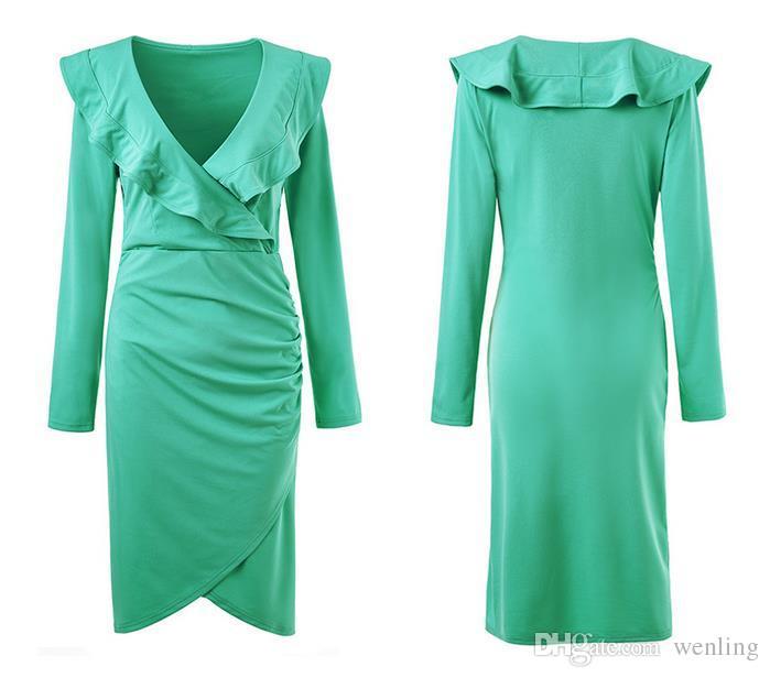 Mulheres vestido de moda primavera boêmio praia vestidos longos mulheres elegantes plissadas Maxi vestido de chiffon Roupas Femininas