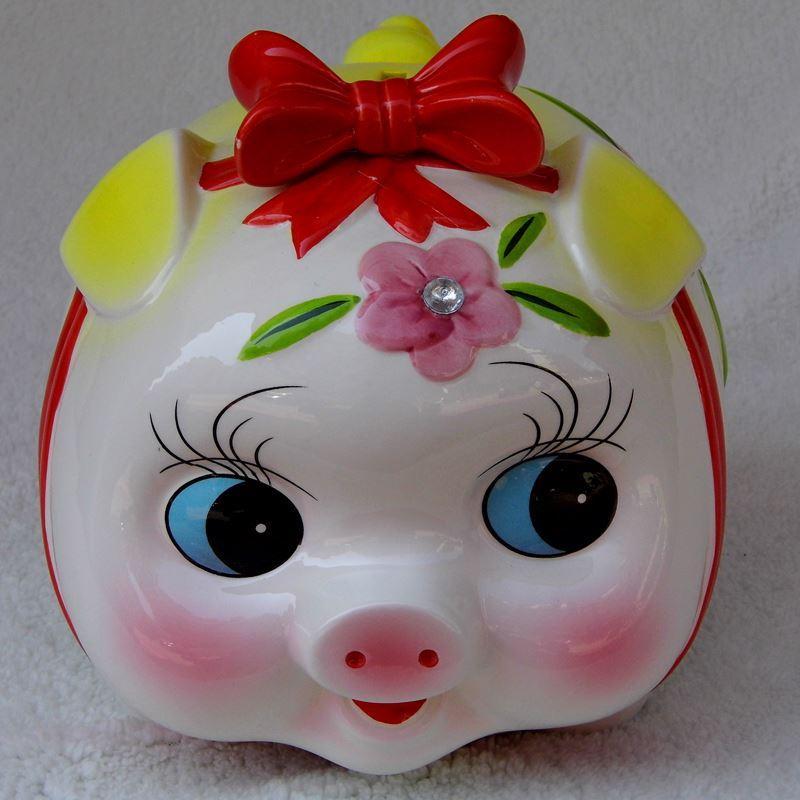 Super cute piggy bank ornaments couple pig piggy piggy tank creative children's Day gift