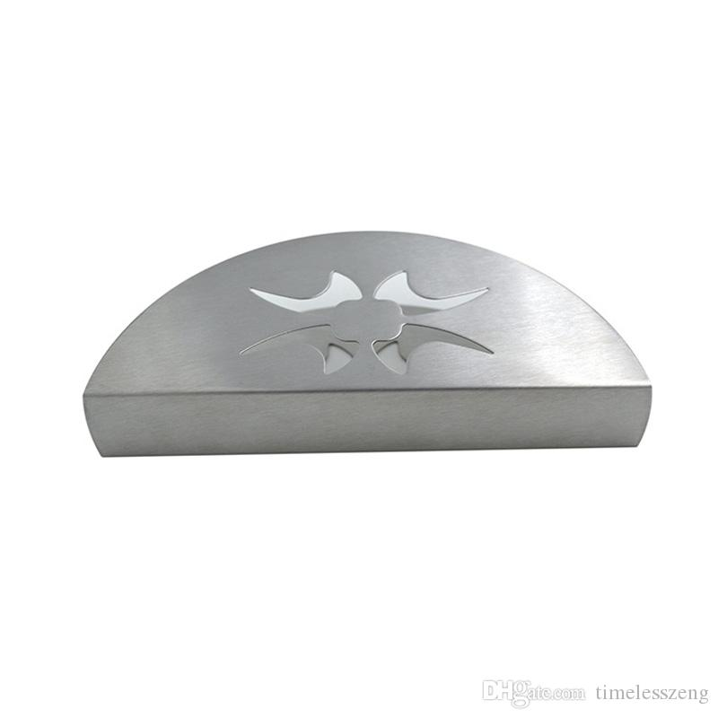 Modern Style Stainless Steel Napkin Holder Towel Rack Home Decoration The Fan Shape Napkin Holder 2 Styles Plat And Decorative Pattern