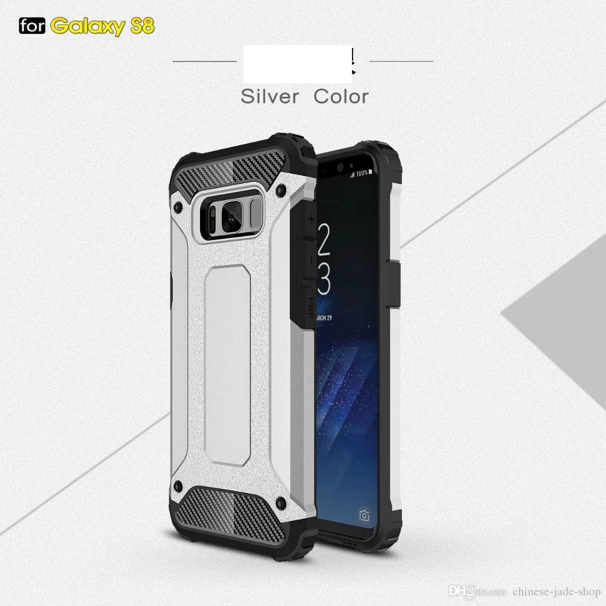 Armor Hybrid Defender Case TPU + PC Funda a prueba de golpes para IPhone X XR XS XS MAX 5 se 6 7 8 plus Galaxy S5 S6 S7 S6 EDGE s8 S8 PLUS 50 piezas