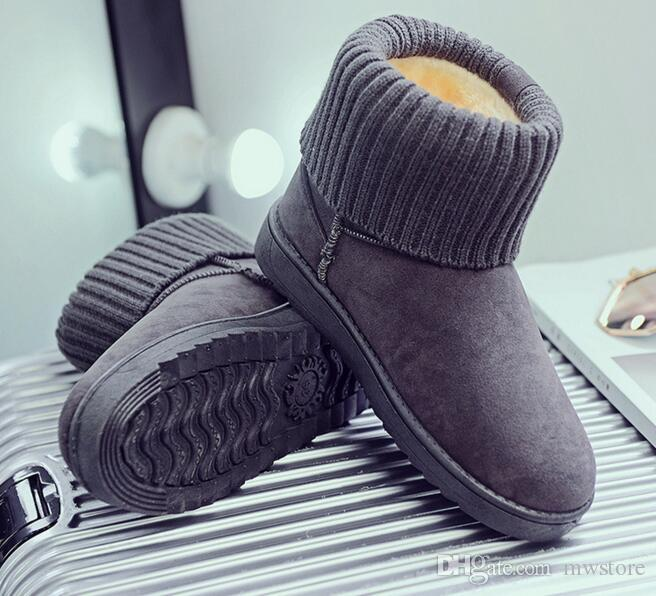 7c1b1472618dc 2017 2018 Women Snow Boots Winter Warm Boots Thick Bottom Platform  Waterproof Ankle Boots For Women Thick Fur Cotton Shoes Low Boots Cheap  Shoes Online From ...